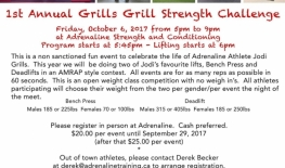 1st Annual Grills Grill Strength Challenge
