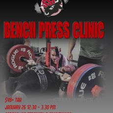 Powerlifting Bench Press Clinic