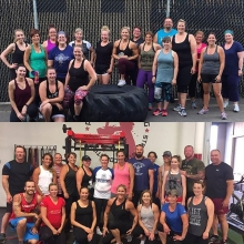 Starting off as individuals but we will be finishing as a team.  Top: Adrenaline Summer Accountability Challenge  Bottom: Adrenaline Mudd Sweat & Tears obstacle course team  Pretty exciting to see over 50 faces start a new fitness challenge this week.  In