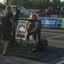 I want to send a big congrats to Adrenaline's Pro Lightweight Strongwoman @jess_theaker. Fresh off her 4th place finish at @strongmancorporation Strongest Woman in the World Competition last weekend.  Jess jumped up a few weight classes this weekend and c