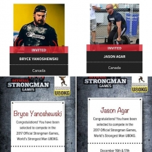 It's official @bryce_yano and @jasoncharles5927 will be representing Canada at the under 80 kg Worlds Strongest Man this December in North Carolina. For the past few years these two guys have proved they are among the best light weight strongman in the co