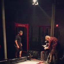 Had a fun time tonight during my acting debut for the Shell Shock 2 Powerlifting documentary.  I guess when you are a movie star you don't have to unload your own bar in between shoots.  On a side note it only took me 9 takes to chalk my hands for the cam