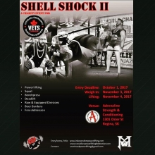 2 more days!  @Regranned from @colleendf -  If you're in Regina, SK on Saturday don't forget to stop by @adrenaline_training and take in the action of Shell Shock II.  Cheer on the lifters as they join together in support of VETS Canada 🇨🇦 VETS