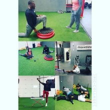 Not every training session needs to be at 100% intensity in order to be effective.  Our sports performance coach @wwfitness_deanna_wells has been doing a lot of #restoration workouts to keep  @sskroughriders healthy this season.  Good luck boys in the Eas