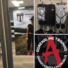 @ontop_athleticwear swag is now available in the Adrenaline proshop. Very excited to support another local small business. . . . . #adrenalinestrengthandconditioning #swag #fitnessapparel #proshop #leggings #fitness #supportlocal #yqr #fitnesscommunity #2