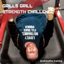 Today is the day! Join us at @adrenaline_training at 6pm for our 2nd Annual Grills Grill Challenge! Lifting starts at 6pm with the double overhand axle deadlift. . We will have beer gardens 🍻, beef on a bun 🍔, 50/50 🎟, and a chance to bet on who