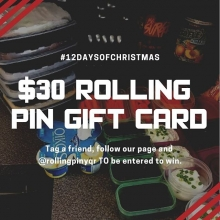 On the 5th day of #liftmas Adrenaline gives to you a $30 gift certificate from @rollingpinyqr  Tag a friend, like our page and the @rollingpinyqr to be entered to win. . . . . #adrenalinefamily #teamadrenaline #yqrfit #yqrfitness #yqrwarehousedistrict #yq