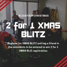 On the 7th day of #liftmas you could win a 2 for 1 registration to our Xmas Blitz! Join us for 5 workouts in 7 days. Register for Xmas Blitz and tag a friend below to be entered to win a 2nd free registration for your friend! Link in our bio to register.