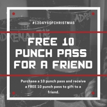 It's the 3rd day of #Liftmas and we are giving away FREE punch passes.  Purchase a package of 10 punch passes and you will receive 10 to gift to a friend who is new to our classes.  Punch passes can be used for any of the classes.  #swass #thenooner #mobi