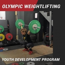 In our Youth Weightlifting Development Program you will learn the basics of Olympic style weightlifting which includes the olympic Snatch and the Clean and Jerk, in addition to a variety of strength movements such as the deadlift and squat (and their many