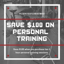 It's the 8th day of Adrenaline #liftmas.  Save $100 when you purchase a package of 10 one hour personal training sessions.  DM for more info . . . . #adrenalinefamily #teamadrenaline #yqrfit #yqrfitness #yqrwarehousedistrict #yqr #regina #sk #saskatchewan
