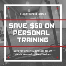 It's the 4th day of Adrenaline #Liftmas.  Save $50 when you buy a package of 10 30 minute personal training sessions. . . . . #adrenalinefamily #teamadrenaline #yqrfit #yqrfitness #yqrwarehousedistrict #yqr #regina #sk #saskatchewan #personaltraining #giv