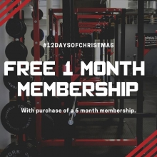 On the 9th day of #liftmas Adrenaline gives to you a FREE 1 month membership when you purchase a 6 month membership.  Offer valid for new members only.  Come down to Adrenaline between 12 and 8pm today or DM for more details. . . . #adrenalinefamily #team