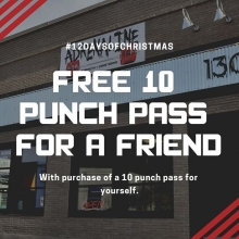 It's the 6th day of Adrenaline #Liftmas.  Give the gift of health and fitness. When you purchase a 10 pack of punch pass classes you'll receive 10 to gift to a friend or family member.  Link is in the bio.  #mobility #thenooner, #swass #beginnerstrongman