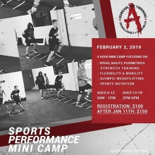 Ready to take your game to the next level? Come check out this comprehensive sports performance mini camp from top trainers in their fields. ⠀ ⠀ This 4 hour camp will work on all aspects of sports performance: speed, agility, plyometrics / strength tr