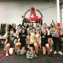 Our @u16aastingers doing some Friday flexing after their team training session. . Reposted from @u16aastingers -  A huge thank you to adrenaline strength and conditioning for keeping us in shape all season long!🐝#FabFitFeb - #regrann . . . . #adrenalin