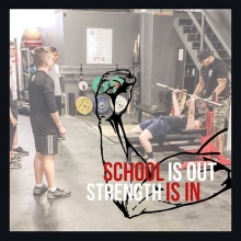 ✏️School Is Out, Strength Is In💪🏼 . . . Focus will be on learning how to lift properly, how to work together as a team, and improve overall confidence to enjoy the gym at any experience level.  Beginners welcome. This is a non competitive envir