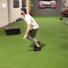 "These boys have hops  @brendanheebs and @lex_ewen putting the new plyo boxes to the test tonight with some 60"" running box jumps. . . . . #adrenalinestrengthandconditioning #boxjumps #verticaljump #plyos #penultimatestride #power #jumpingisaskill #techniq"