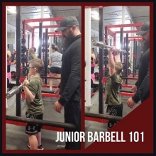 JUNIOR BARBELL 101 💪🏼 . . . Monday and Wednesday's at 4:30pm with Derek Becker. . . . What is Junior Barbell 101? Contrary to what you might have heard, introducing resistance training to youth will not stunt their growth. This doesn't mean that k
